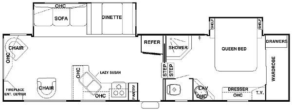 Floorplan - 2006 Forest River RV Cedar Creek Silverback 33 LRLBS