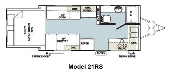 Floorplan - 2012 Forest River RV Flagstaff Shamrock 21RS