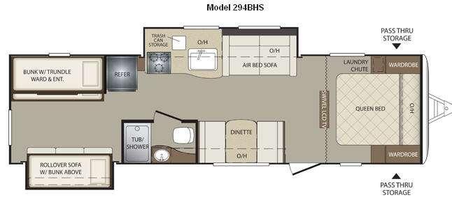 Floorplan - 2012 Keystone RV Bullet 294BHS