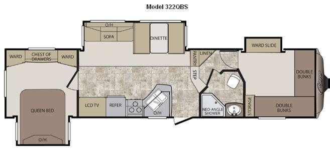 Floorplan - 2012 Keystone RV Cougar 322QBS