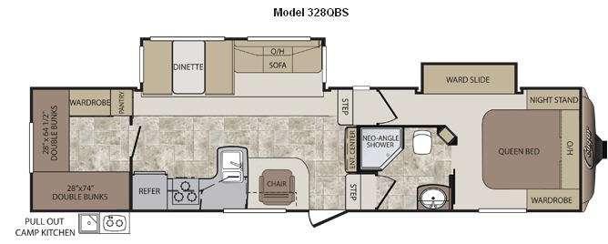 Floorplan - 2012 Keystone RV Cougar 328QBS