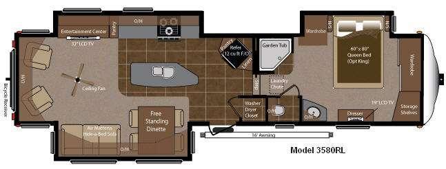 Floorplan - 2012 Keystone RV Montana 3580 RL