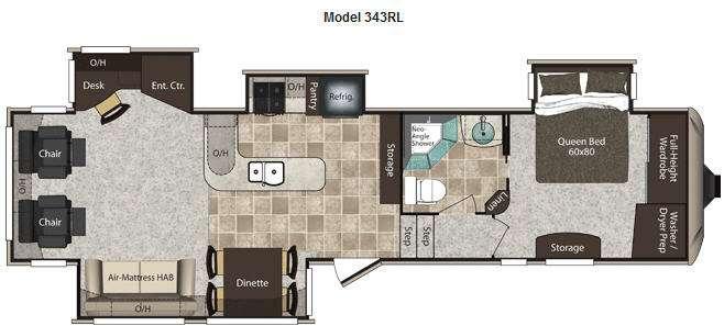Floorplan - 2012 Keystone RV Montana High Country 343RL