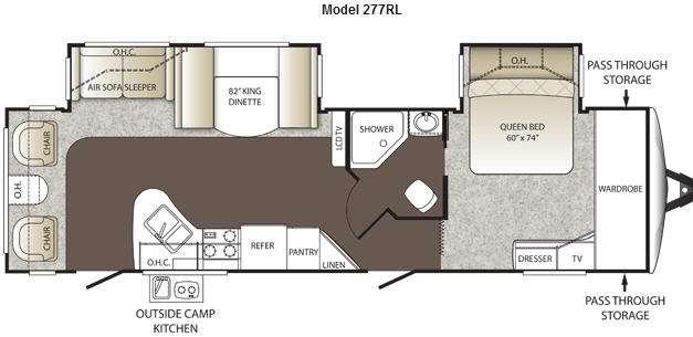 Floorplan - 2012 Keystone RV Outback 277RL