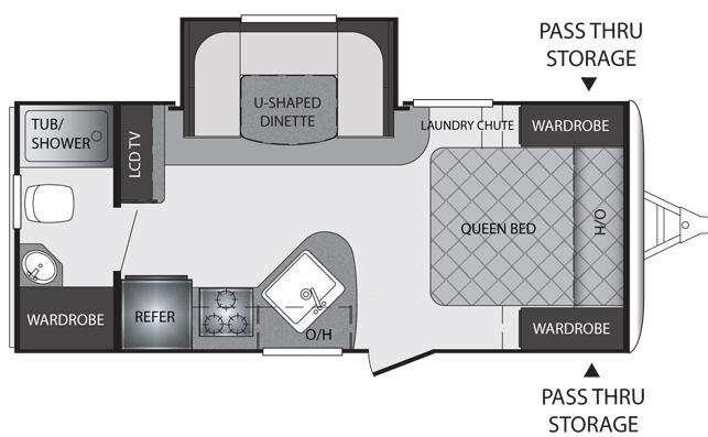 Floorplan - 2012 Keystone RV Premier Ultra Lite 19FBPR