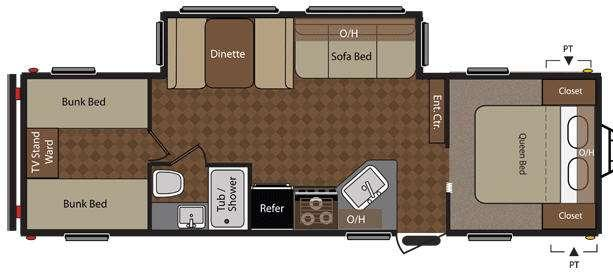 Floorplan - 2012 Keystone RV Summerland 2980BHGS