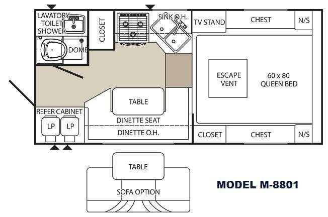 Floorplan - 2012 Palomino Maverick M-8801