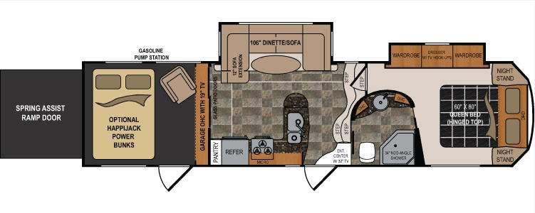 Floorplan - 2012 Dutchmen RV Voltage V3200