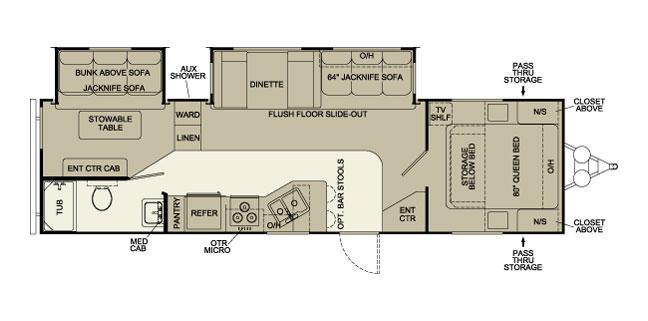 Floorplan - 2006 Pilgrim 310 RBDS