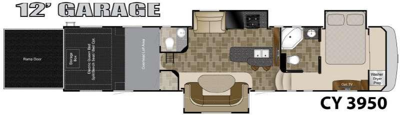 Floorplan - 2012 Heartland Cyclone 3950