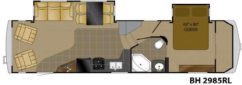 Floorplan - 2012 Bighorn 2985RL Fifth Wheel