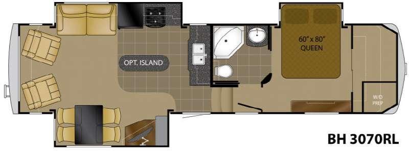 Floorplan - 2012 Heartland Bighorn 3070RL