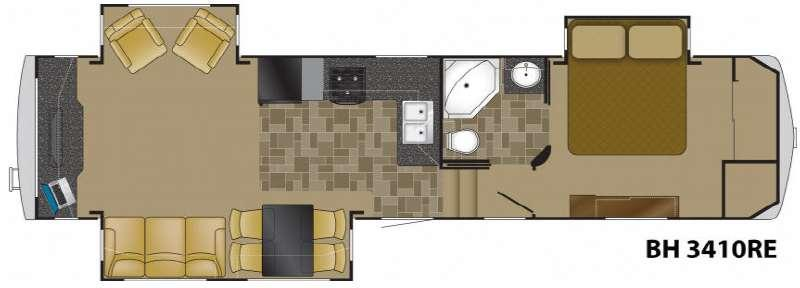 Floorplan - 2012 Bighorn 3410RE Fifth Wheel