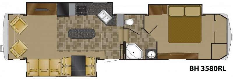 Floorplan - 2012 Bighorn 3580RL Fifth Wheel