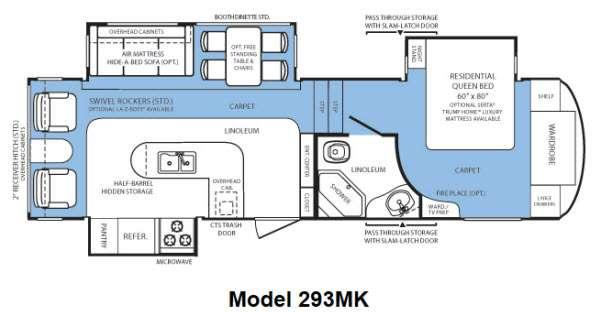 Floorplan - 2012 Forest River RV Wildcat 293MK