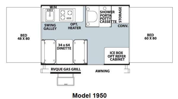 Floorplan - 2012 Forest River RV Rockwood Freedom LTD Series 1950