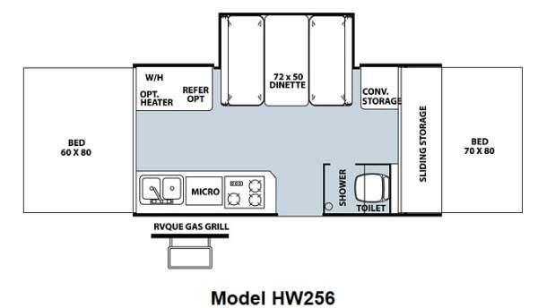Floorplan - 2012 Forest River RV Rockwood High Wall Series HW256
