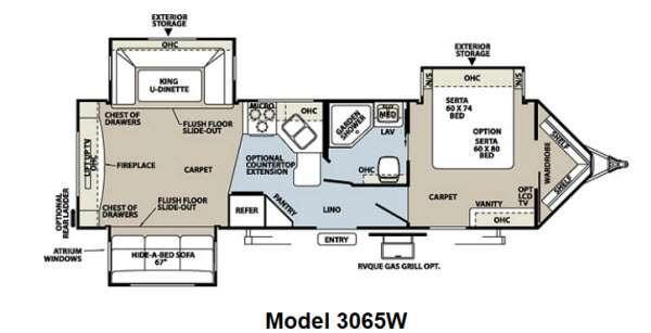 Floorplan - 2012 Forest River RV Rockwood Wind Jammer 3065W