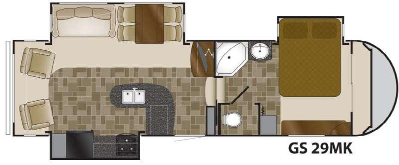 Floorplan - 2012 Heartland Greystone 29MK