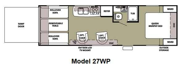 Floorplan - 2012 Forest River RV Cherokee Wolf Pack Sport 27WP