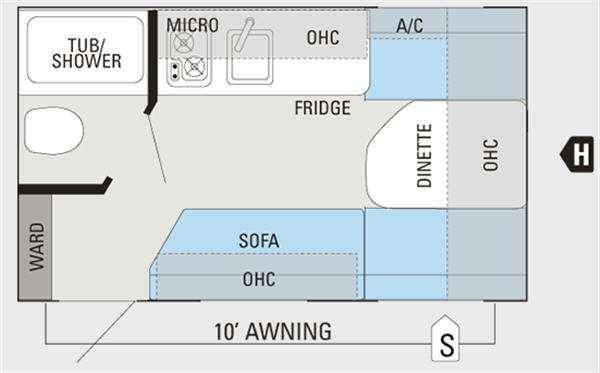 Floorplan - 2012 Jayco Jay Flight Swift SLX 145RB