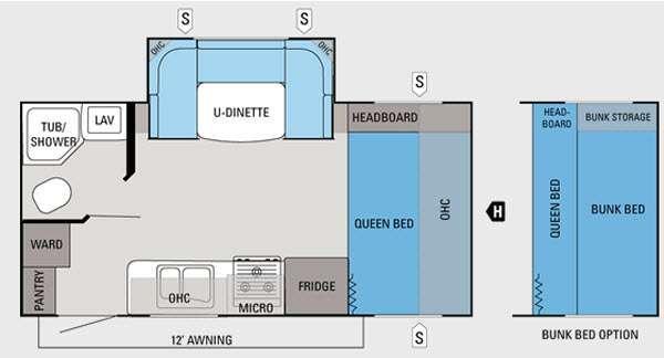 Floorplan - 2012 Jayco Jay Feather Ultra Lite 197