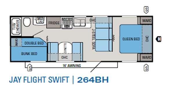 Floorplan - 2012 Jayco Jay Flight Swift 264BH
