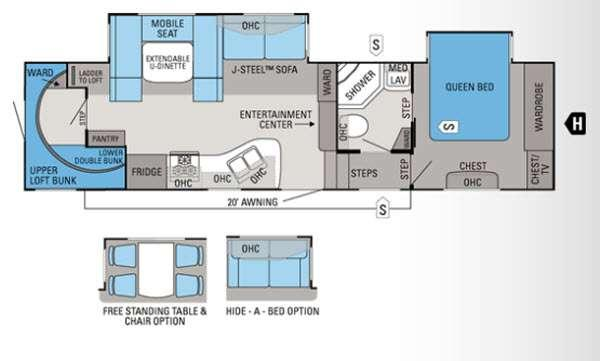 Floorplan - 2012 Jayco Eagle Super Lite 30.5BHLT