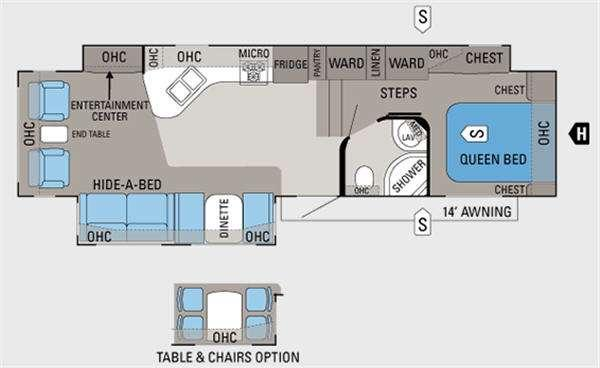 Floorplan - 2012 Eagle 321RLMS Fifth Wheel