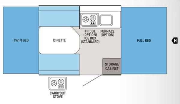 Floorplan - 2012 Jayco Jay Series Sport 8