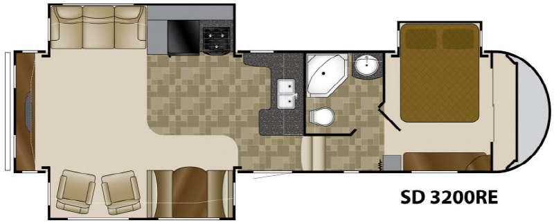 Floorplan - 2012 Heartland Sundance 3200RE