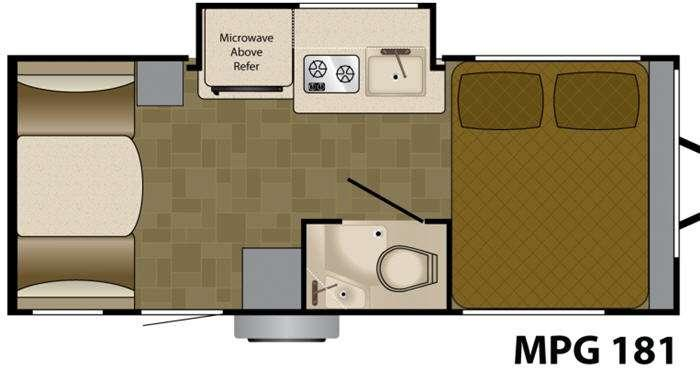Floorplan - 2012 Heartland MPG 181