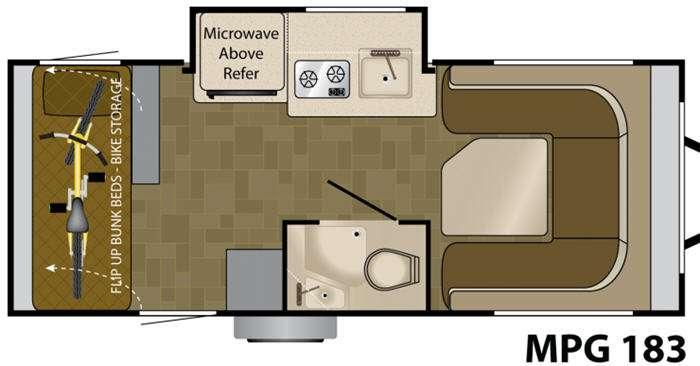 Floorplan - 2012 Heartland MPG 183