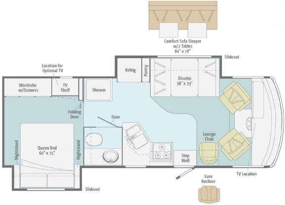 Floorplan - 2012 Itasca Sunstar 26P