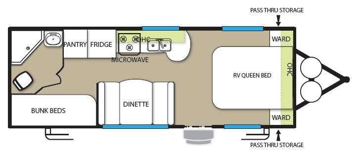 Floorplan - 2012 Forest River RV Stealth EVO 2150