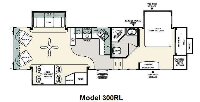 Floorplan - 2012 Forest River RV Sierra 300RL