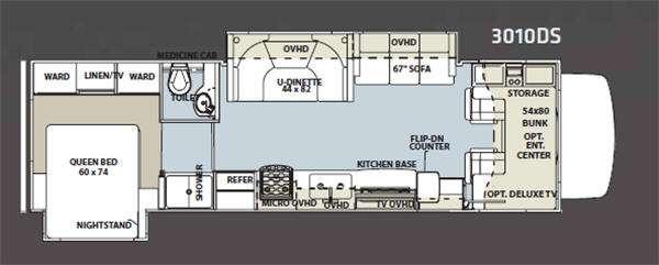 Floorplan - 2012 Forest River RV Sunseeker 3010DS