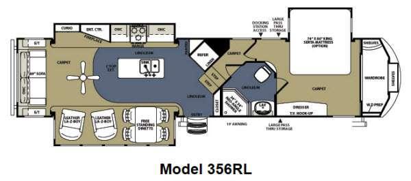 Floorplan - 2012 Forest River RV Sandpiper 356RL