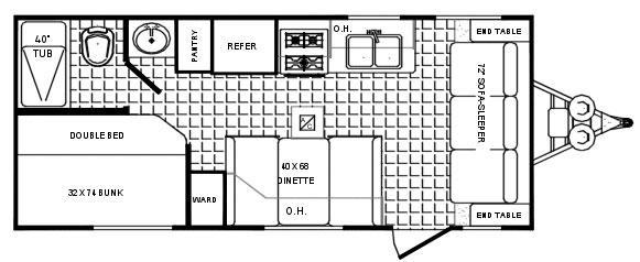 Floorplan - 2006 Palomino Puma 19 FS