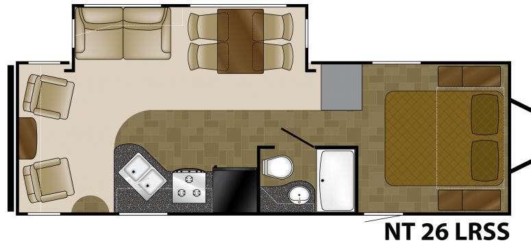 Floorplan - 2012 Heartland North Trail 26LRSS King