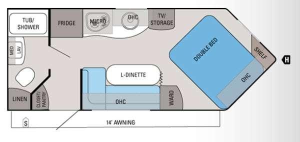 Floorplan - 2012 Jayco Skylark 21RBV