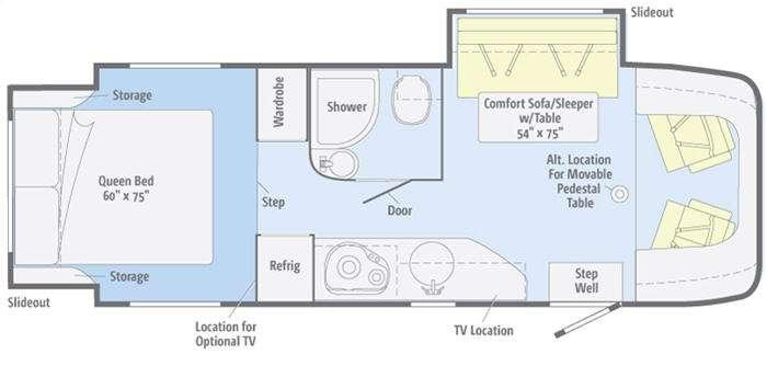 Floorplan - 2012 Winnebago View Profile 24G