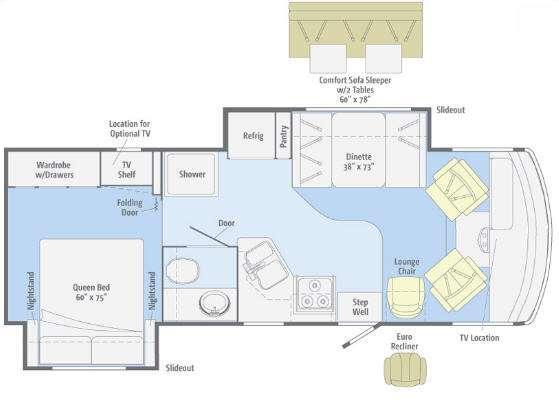 Floorplan - 2012 Winnebago Vista 26P