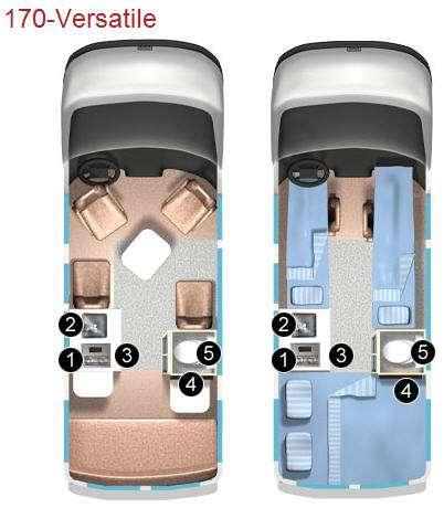 Floorplan - 2012 Roadtrek 170-Versatile