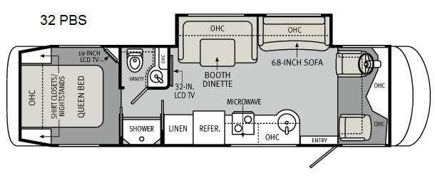 Floorplan - 2011 Holiday Rambler Trip 32 PBS