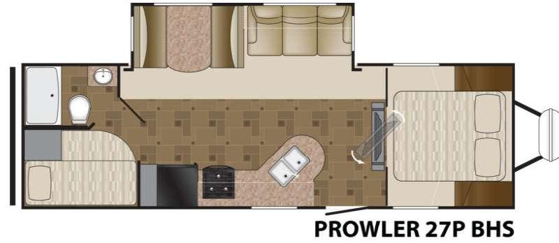 Floorplan - 2012 Heartland Prowler 27P BHS