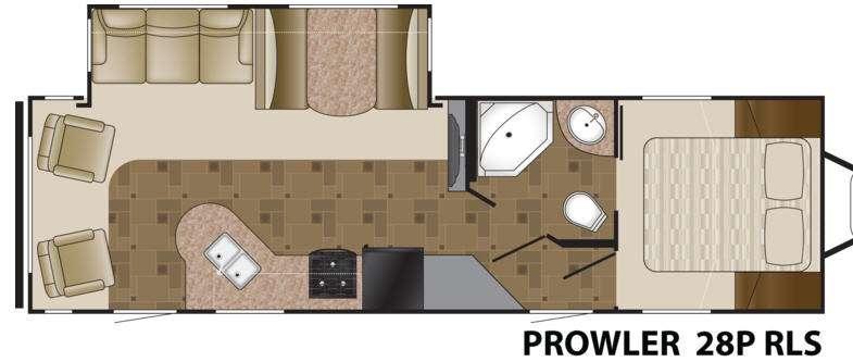 Floorplan - 2012 Heartland Prowler 28P RLS