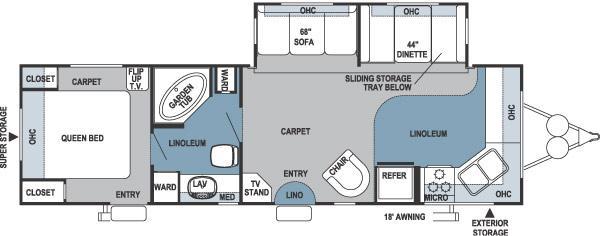 Floorplan - 2006 Forest River RV Rockwood 8315SS