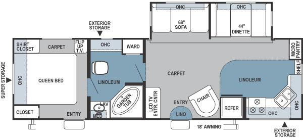Floorplan - 2006 Forest River RV Rockwood 8296SS