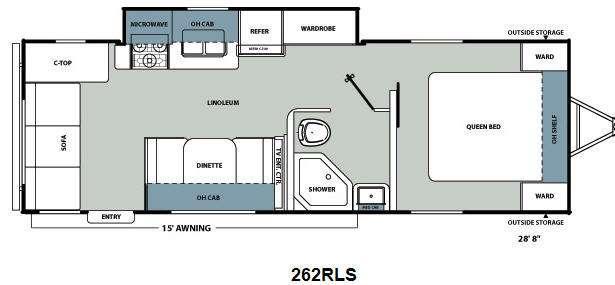 Floorplan - 2012 Coachmen RV Catalina Santara Series 262RLS